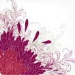 Cute floral background with ornament - Vektorgrafik