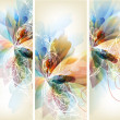 Set of floral brochures for your design - Imagens vectoriais em stock