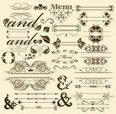Calligraphic design retro elements — Stock Vector
