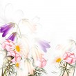 Beautiful pastel floral background with clean space and light — Stock Vector