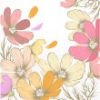 Hand drawn pastel fashion background with flowers - ベクター素材ストック