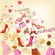 Fashion  stylish background — Image vectorielle