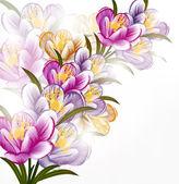 テキストのためのクリーンな空間で花の背景 — ストックベクタ