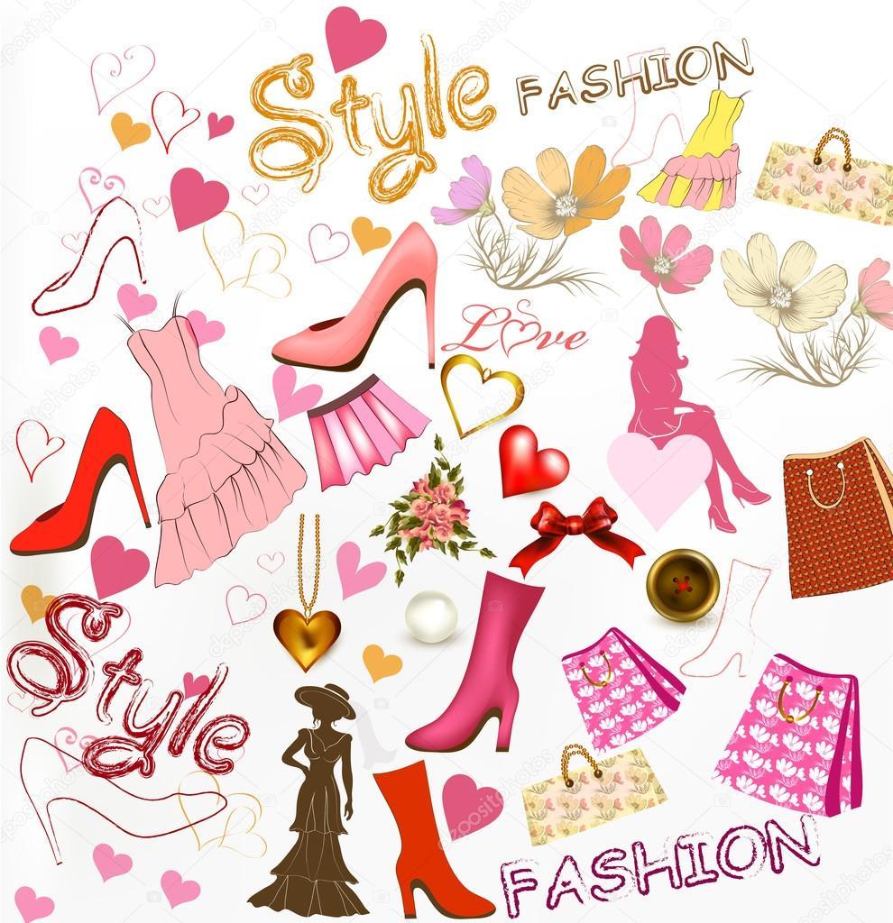 fashion stylish background � stock vector 169 mashakotscur