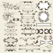 Calligraphic retro vector elements and page decorations — Wektor stockowy #21010253