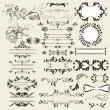 Calligraphic retro vector elements and page decorations — Vecteur #21010253