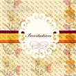 Royalty-Free Stock Vector Image: Invitation card in retro style