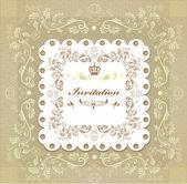 Floral invitation wedding card for design — Stock Vector