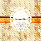 Invitation card in retro style — Stock Vector