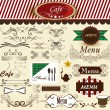 Calligraphic  decorative retro elements for cafe and menu design — Stock Vector