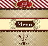 Elegant menu design for cafe — Stock Vector