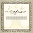Certificate or coupon for design — Stok Vektör #21792467