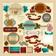 Collection of retro labels genuine, best and guaranteed quality — Stock Vector #21792705