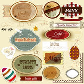 Collection of retro labels for design — Stock Vector