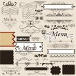 Collection of calligraphic design elements and page decorations - Stock Vector