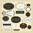 Collection of retro calligraphic labels best, original and genui - Stock Vector