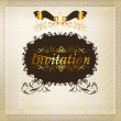 Invitation wedding greeting card design - Stock Vector