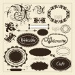 Calligraphic design elements and page decorations - Stock Vector