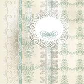 Elegant wedding invitation with lace in retro style — Stock Vector