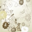 Elegant wedding invitation card for your design - Image vectorielle