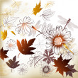 Floral clean background with leafs - Image vectorielle