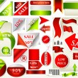 Collection of vector ribbons, banners and stickers for sale desi — Stock Vector