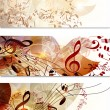Business cards template set in floral style - 