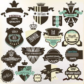 Collection of labels premium, best, high and genuine quality in — Stock Vector