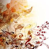 あなたの設計のための音楽グランジ未来的な背景 — ストックベクタ