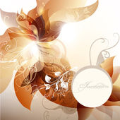 Invitation floral background with banner and space for text — Stock Vector