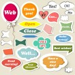 Collection of speech baubles for web design — Stock Vector
