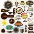 Collection of vintage grunge labels for your retro design - Stock Vector