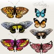 Royalty-Free Stock Vector: Set of vector colorful realistic butterflies for design