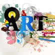 Abstract art vector conceptual background - Stockvectorbeeld