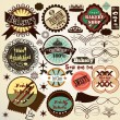Collection  of vintage vector food labels bakery and sweets — Stock Vector