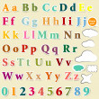 Collection of English letters colorful  alphabet for design - Stockvektor