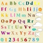 coleção alfabeto colorido de letras em inglês para projeto — Vetor de Stock  #25254617