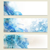 Abstract blue business vector cards set for design — Stock Vector