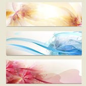 Abstract colorful vector backgrounds set — Stock Vector