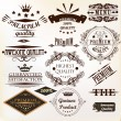Collection of vintage vector labels best and premium quality — Stock Vector