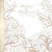 Elegante bruiloft achtergrond voor ontwerp — Stockvector