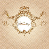 Wedding invitation card in luxury vintage style — Vector de stock