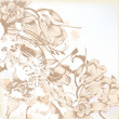 Elegant wedding background with floral pattern for design — Stok Vektör