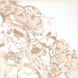 Elegant wedding background with floral pattern for design — Image vectorielle