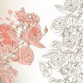 Tło z różami — Wektor stockowy