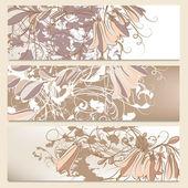 Coleção de folhetos florais design — Vetor de Stock