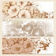 Set of floral brochures in classic style with flowers — Stock Vector #26229673