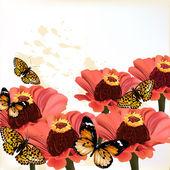 Fond floral design — Vecteur