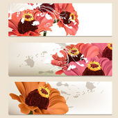 矢量花卉背景设计的一套 — 图库矢量图片