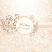 Wedding vector design in vintage style — Stock Vector